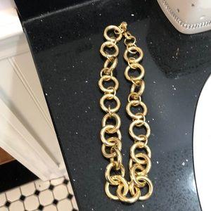 J.Crew Gold Circle Necklace.